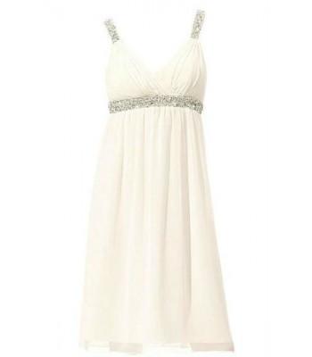 маркова сватбена официална рокля с деко камъни