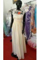 изгодна рокля за поводи от шифон и дантела на връзки
