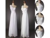 шифонена сватбена рокля с цветя  в мини и макси размери