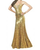 сияеща бална рокля в злато 2013