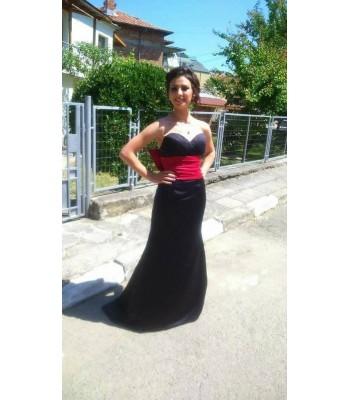 абитуриентска бална рокля с интересен дизайн в 2 гами