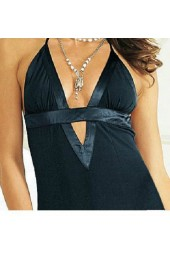 официална рокля с интересен дизайн и гол гръб в черно