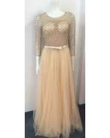 луксозна висококачествена рокля за официални поводи обсипана с перли
