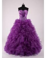 бална рокля с интересен дизайн в лилаво или микс