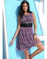 дамска свежа рокля в лилаво