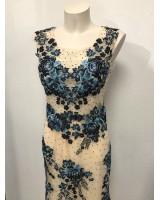 луксозна бална рокля 2021 обсипана с цветя